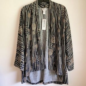 Chico's Travel Collection Open Front Cardigan